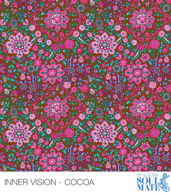 2 Yard REMNANT - Inner Vision - Cocoa from Soul Mate by Amy Butler for FreeSpirit