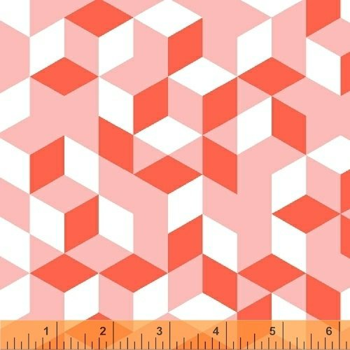 Cubes in Coral from Maribel by Annabel Wrigley
