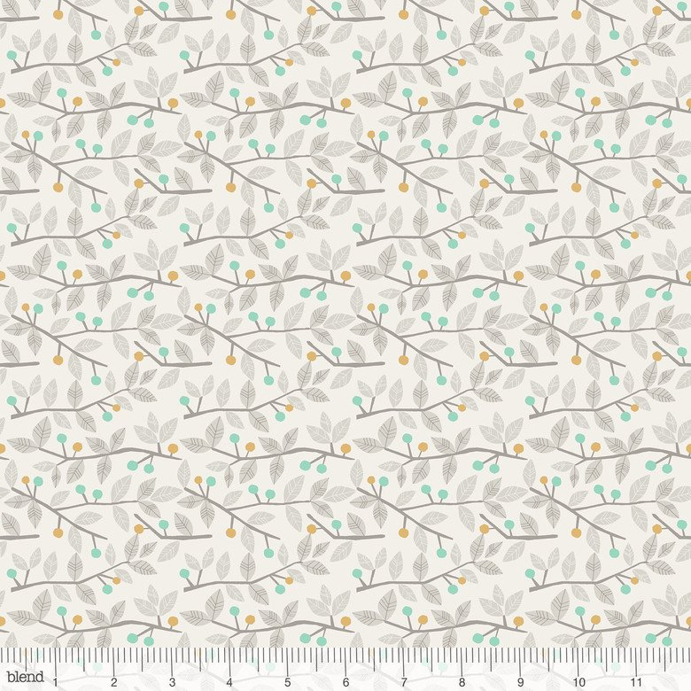 Sweet Dreams in TWIGS BLUE by Maude Asbury from Blend Fabrics