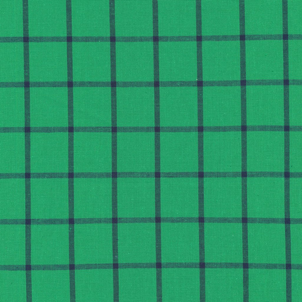 25 REMNANT - Window Dressing Plaids in Shamrock/Ocean by Cloud9