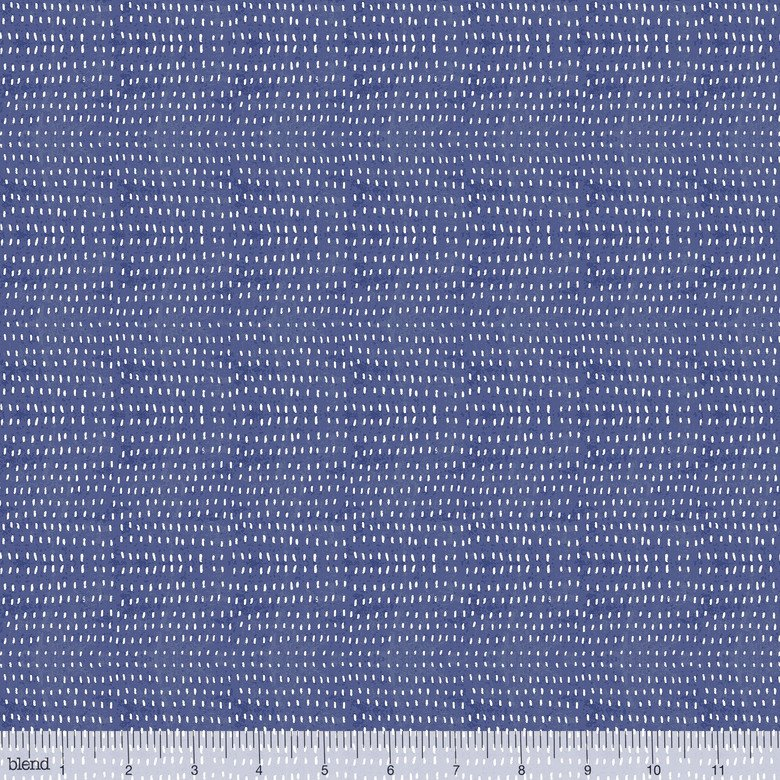 Seeds in Cobalt by Cori Dantini from Blend Fabrics - 1 Yard 20 REMNANT