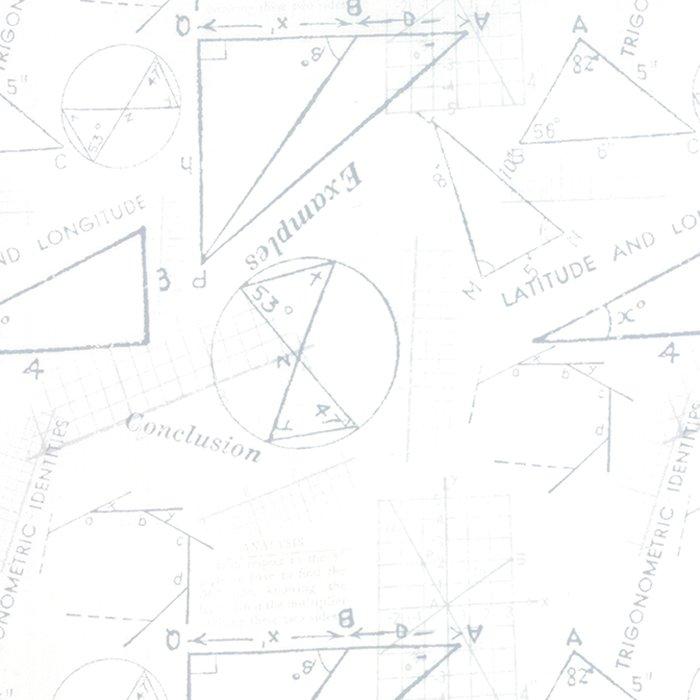Modern Background Paper in Basic Metrics White by Zen Chic for Moda