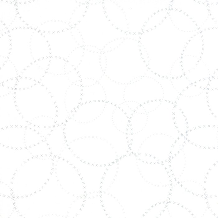 25 REMNANT  Modern Background Paper in Basic XOXO White by Zen Chic for Moda