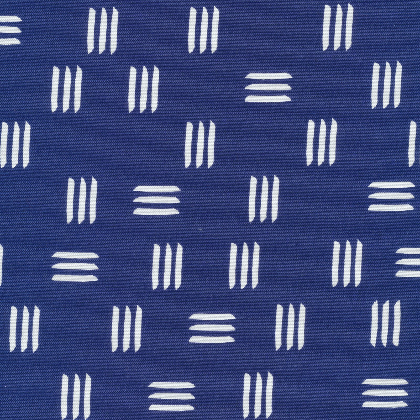 Cloud 9 Canvas - Lines and Shapes Dashes in Dark Blue