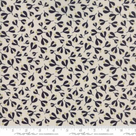 White Christmas in Mistletoe Leaf Stone by Zen Chic for Moda Fabrics