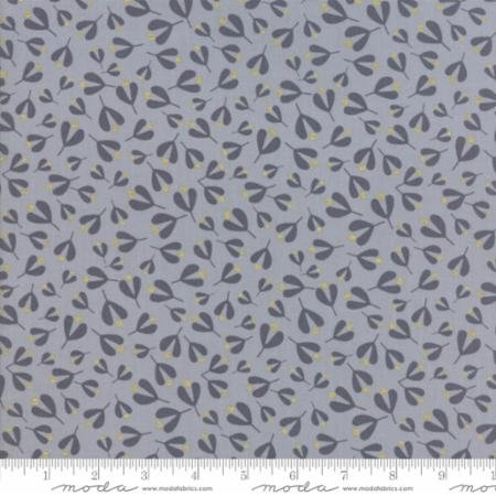 White Christmas in Mistletoe Leaf Silver by Zen Chic for Moda Fabrics