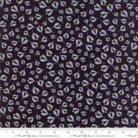 White Christmas in Mistletoe Leaf Black by Zen Chic for Moda Fabrics