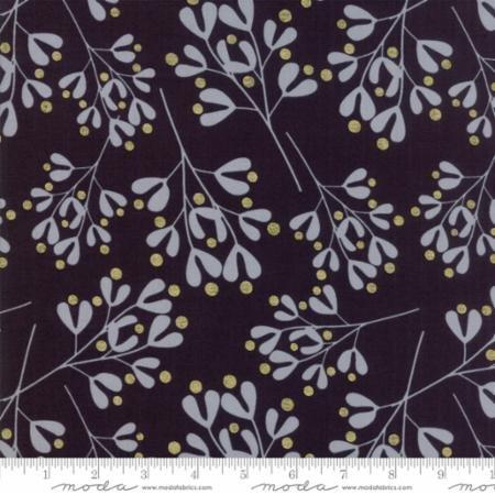 White Christmas in Mistletoe Black by Zen Chic for Moda Fabrics