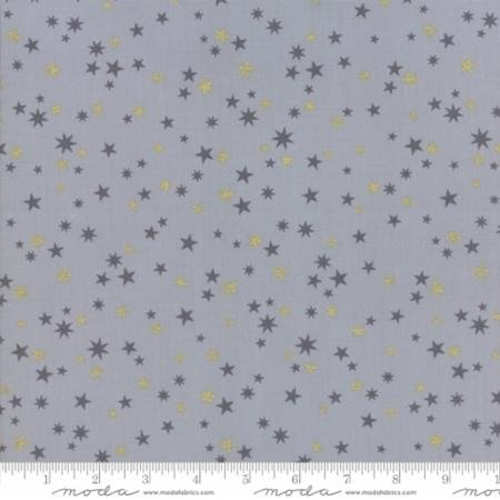 1 yard 14 - White Christmas in Stars Silver by Zen Chic for Moda Fabrics