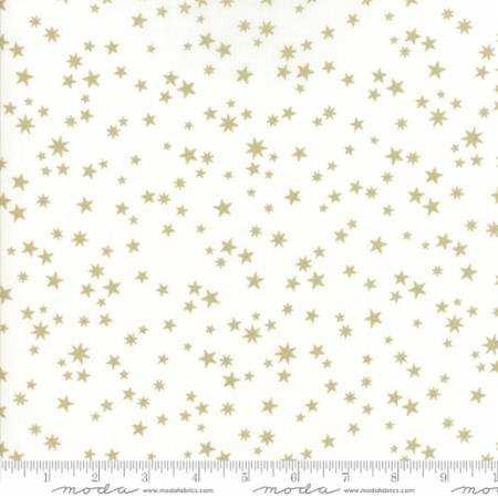 White Christmas in Stars White by Zen Chic for Moda Fabrics