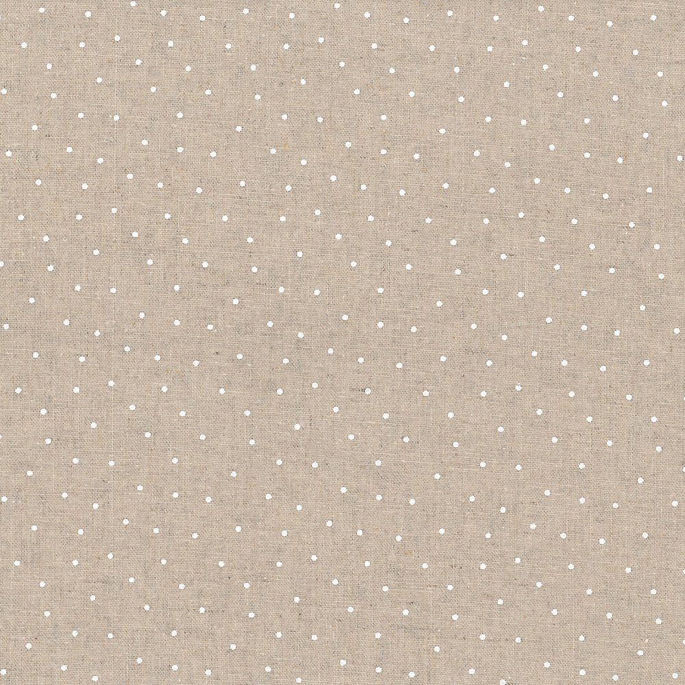 Linen Dots White from STOF Fabrics for Blank