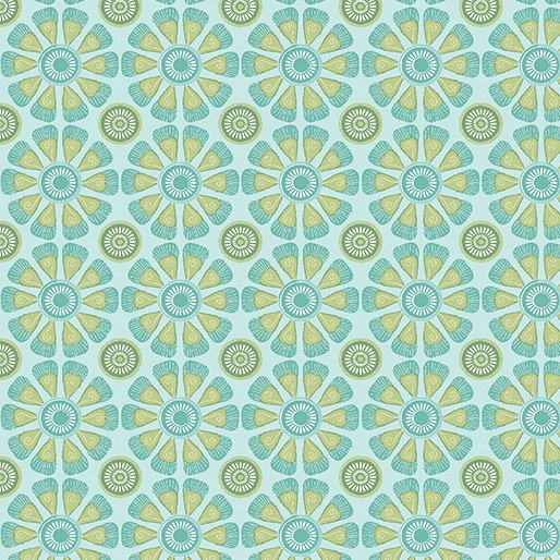 Daisy Love Turquoise by Cherry Guidry for Contempo Studio