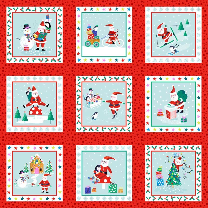 Labels from Jolly Santa by Makower UK