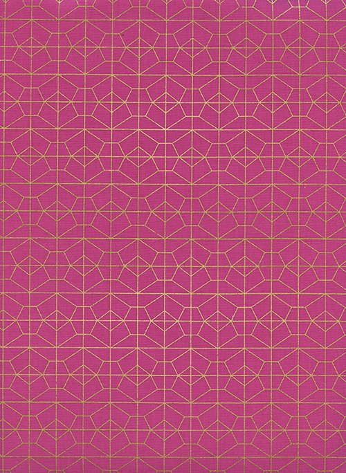 Geo Grid Fuschia Metallic for Akoma by Rashida Coleman-Hale for Cotton + Steel