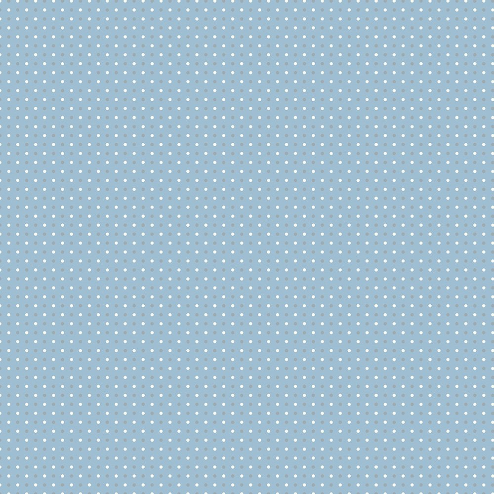 30 REMNANT - Small Dots Blue Gray - AVALANA Jersey by STOF Fabrics