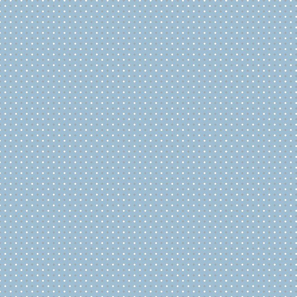 Small Dots Blue Gray - AVALANA Jersey by STOF Fabrics