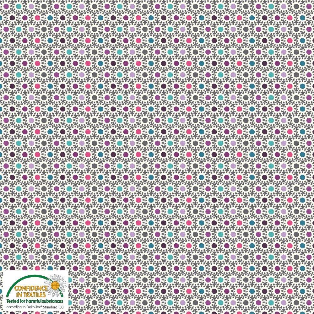 3cfe7ed6351 AVALANA Jersey Knit Sunburst in GRAY by STOF Fabrics