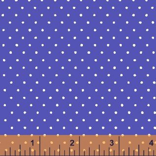 1 YARD 10 REMNANT - Windham Fabric Dot Basic - Bright 29400-9