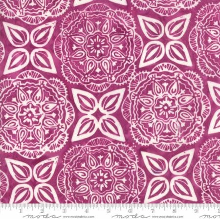 1 Yard 28 REMNANT - Longitude Batiks RAYON Magenta (27259 43R) from Kate Spain for Moda