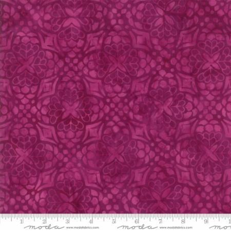 18 REMNANT - Longitude Batiks RAYON Magenta (27259 154R) from Kate Spain for Moda