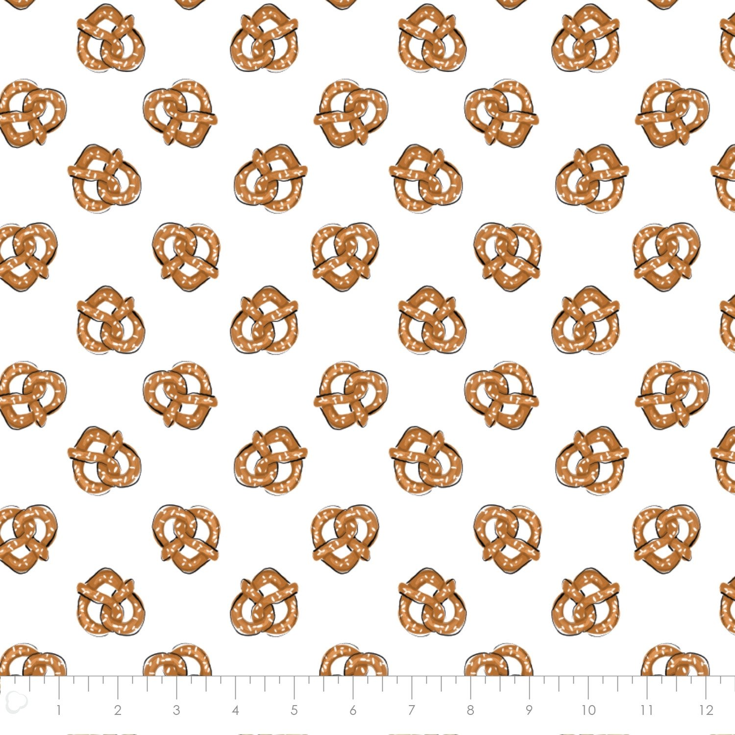 Pretzels in White from City Girl by Sara Berrenson for Camelot Fabrics