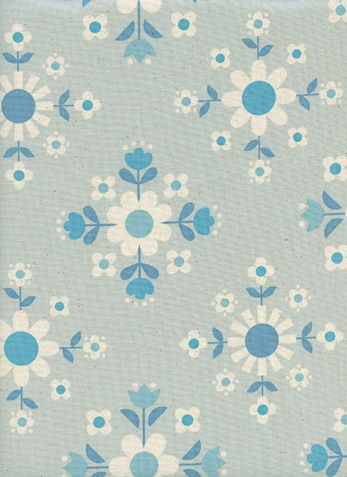 16 REMNANT - Florametry Ice from Welsummer by Kim Kight for Cotton + Steel