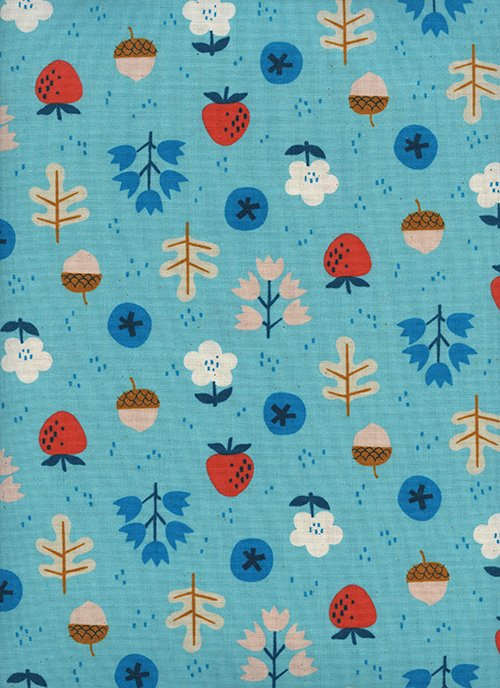 Forage Bright Blue from Welsummer by Kim Kight for Cotton + Steel