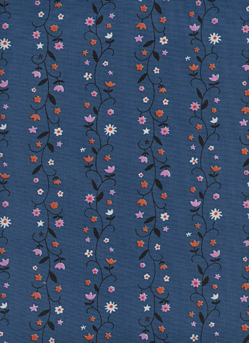 Daisy Vine Denim from Welsummer by Kim Kight for Cotton + Steel