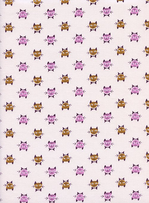 Calicocats Peach from Steno Pool by Kim Kight for Cotton + Steel
