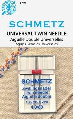 Schmetz Universal Twin 4.0/80