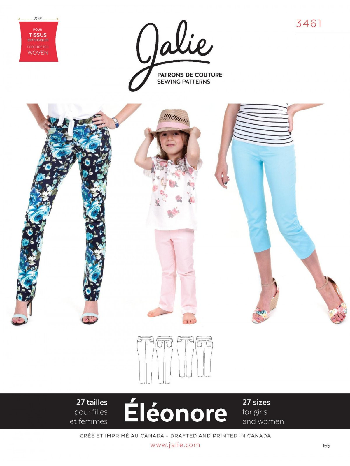 Jalie Patterns ELEONORE Pull-On Jeans #3461