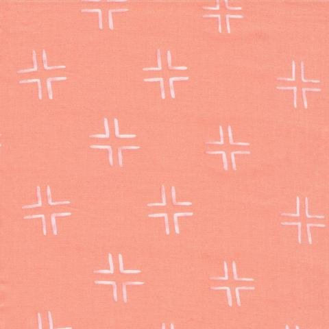 Trellis - Coral -  From Brush Strokes by Holly DeGroot for Cloud9 Fabrics