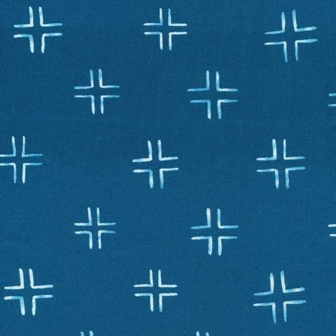 1 YARD REMNANT - Trellis - Navy  From Brush Strokes by Holly DeGroot for Cloud9 Fabrics