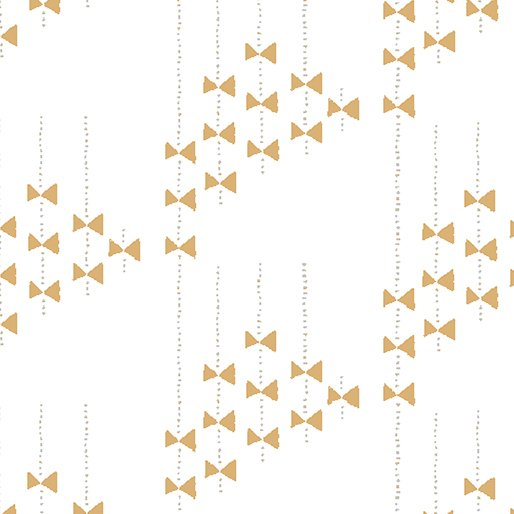 3 Yards 17 - Improv in BOWS WHITE/CINNAMON by Amy Friend for Contempo