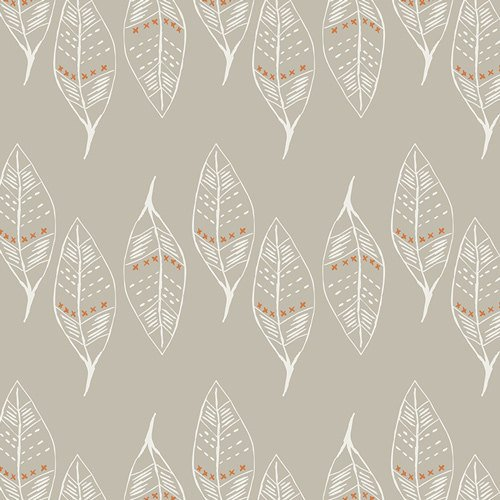 1 Yard 34 - Gust of Leaves Silver in KNIT from Wanderer  - April Rhodes for Art Gallery Fabric