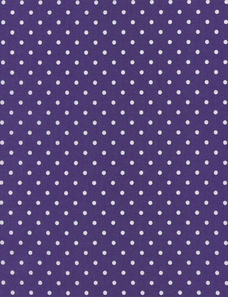 Timeless Treasures Polka Dot Basic - Purple - 1 YARD 29 REMNANT