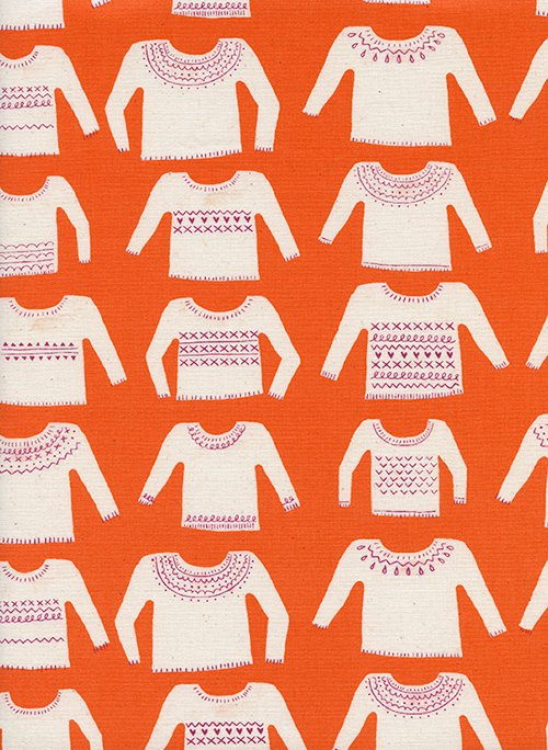 29 REMNANT - Cozy in My Favorite Sweater Orange for Cotton and Steel