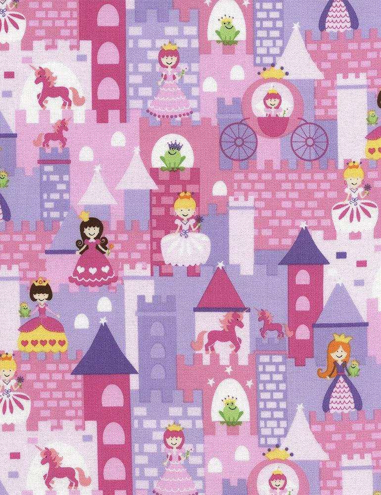11 REMNANT - Timeless Treasures Mini Fairy Tale Gail-C2472-Pink
