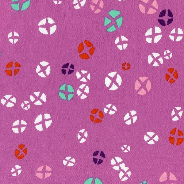 2yd-10   Hot Cross Buns in Dark Plum Mochi - Rashida Coleman Hale for Cotton + Steel