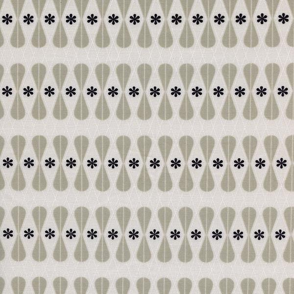 33 REMNANT - Floral Geo in Black and White - Melody Miller for Cotton + Steel