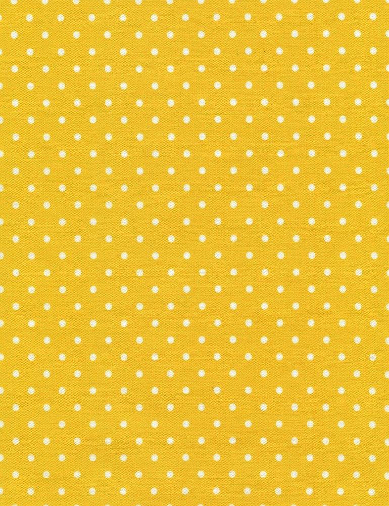 2 Yard 9 REMNANT - Timeless Treasures Polka Dot Basic - Yellow