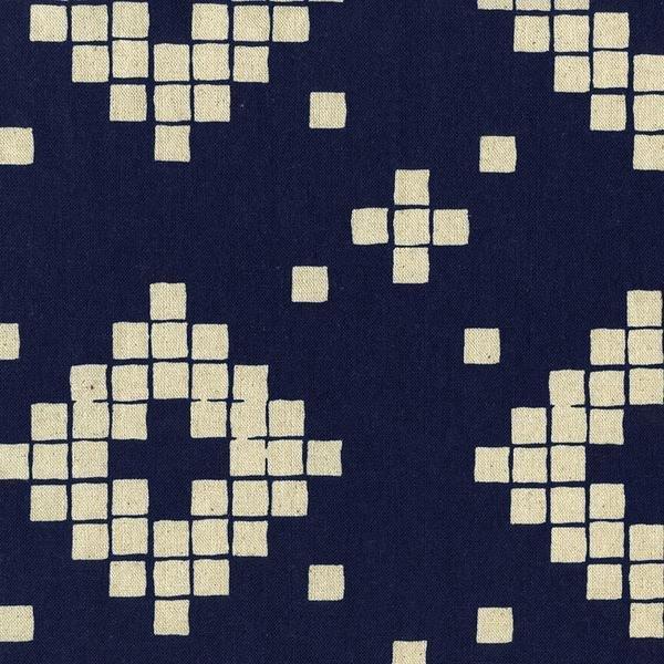 1 Yard 5 - Tile Canvas in Indigo Mesa - Alexia Marcelle Abegg for Cotton + Steel