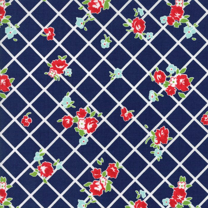1 Yard 29 - Bonnie & Camille The Good Life (55153 in Navy) from Moda