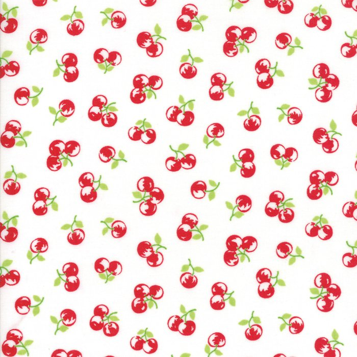 2 Yards - Bonnie & Camille The Good Life (55158 in Cream Red) from Moda - copy