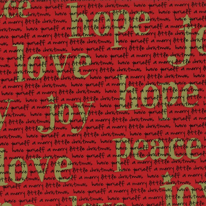Overnight Delivery in Joy Love Peace RED by Sweetwater for Moda