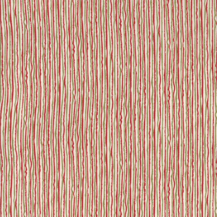 29 REMNANT - Overnight Delivery in Stripes RED/GREEN by Sweetwater for Moda