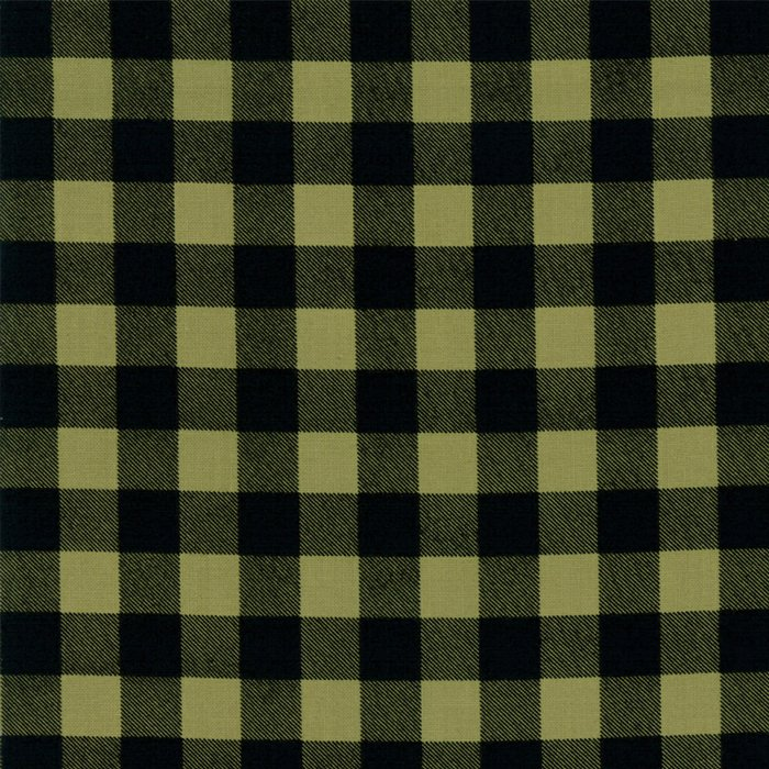 1 Yard 6 REMNANT - Overnight Delivery in Gingham GREEN by Sweetwater for Moda