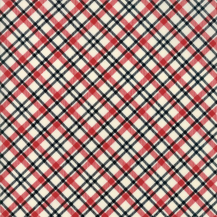 20 REMNANT - Overnight Delivery in Plaid RED by Sweetwater for Moda