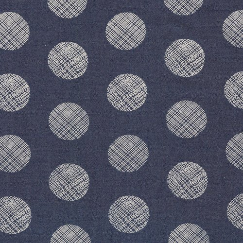 Pointelle Rings Printed Denim from the Denim Studio - Art Gallery Fabric