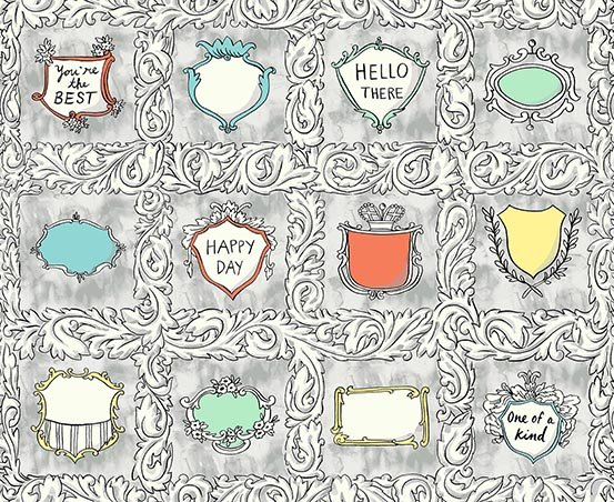 Flourish LABELS by Molly Hatch from Andover Fabrics